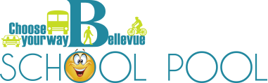 Choose your way Bellevue School pool logo